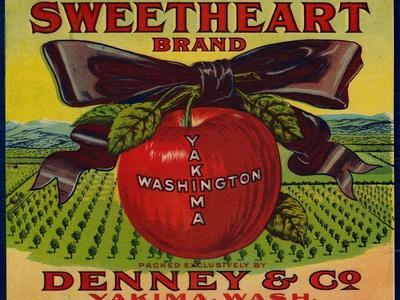 Warshaw Collection of Business Americana Food; Fruit Crate Labels, Denney & Co.--Stretched Canvas Print