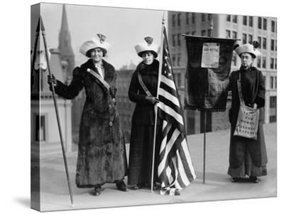 Suffrage Hike of 1912 from Manhattan to Albany Got Attention for Woman's Rights--Stretched Canvas Print