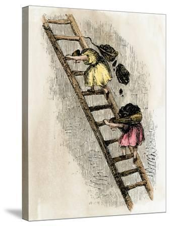 Women Coal-Bearers in the East Scotland Mines, 1850s--Stretched Canvas Print