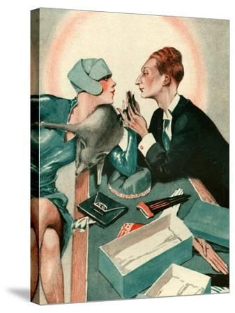 1920s France La Vie Parisienne Magazine Plate--Stretched Canvas Print