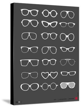 Glasses Poster II-NaxArt-Stretched Canvas Print