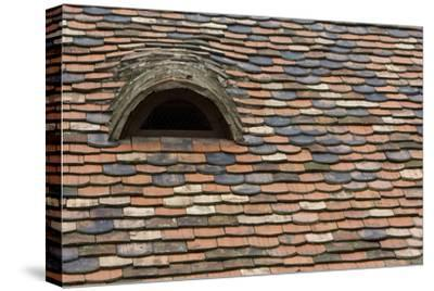 Detail of a Tile Roof with a Window in the Old Downtown-Joe Petersburger-Stretched Canvas Print