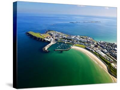 Aerial View Over Portrush, Northern Ireland-Chris Hill-Stretched Canvas Print