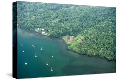 Aerial View of Fort San Fernando, Portobelo, Panama-Jonathan Kingston-Stretched Canvas Print