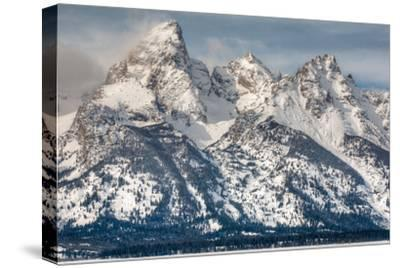 The Grand Teton, Mt. Owen, and Mt. Teewinot in Winter-Greg Winston-Stretched Canvas Print