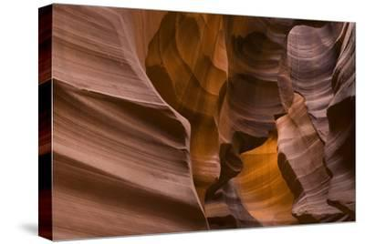 Antelope Canyon-John Burcham-Stretched Canvas Print