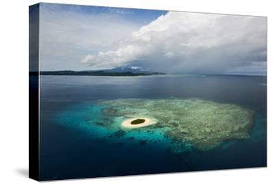 Coral Reefs and Islets Off Nadi Island-Mattias Klum-Stretched Canvas Print