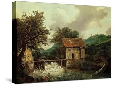 Two Watermills, 1650-1652-Jacob Ruysdael-Stretched Canvas Print