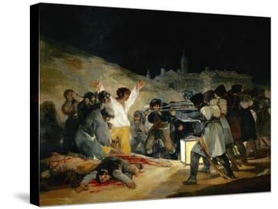 The 3rd of May In Madrid, 1814, Spanish School-Francisco de Goya-Stretched Canvas Print