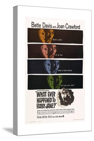 What Ever Happened To Baby Jane?, 1962, Directed by Robert Aldrich--Stretched Canvas Print