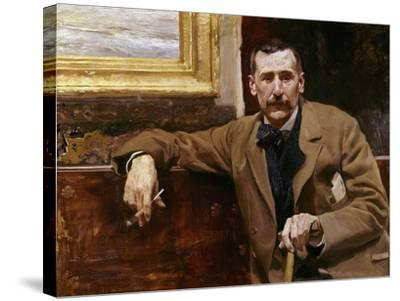 Benito Perez Galdos, 1894, Spanish School-Joaqu?n Sorolla y Bastida-Stretched Canvas Print