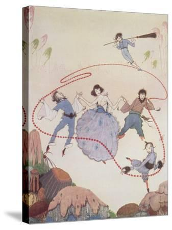 Dancing-Harry Clarke-Stretched Canvas Print
