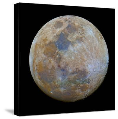The Almost Full Moon in Color-Stocktrek Images-Stretched Canvas Print