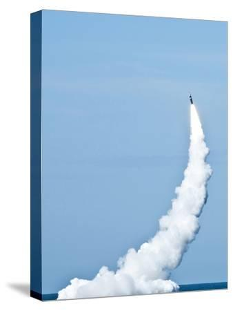 An Unarmed Trident II D5 Missile Launches from USS Nevada-Stocktrek Images-Stretched Canvas Print