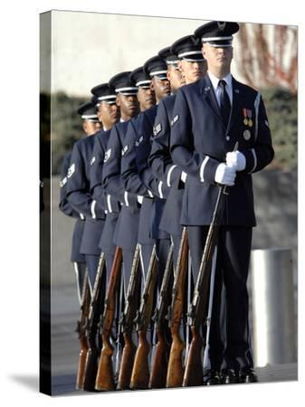 United States Air Force Honor Guard Members-Stocktrek Images-Stretched Canvas Print