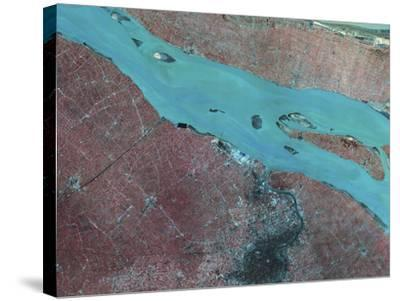 Satellite View of Shanghai, China-Stocktrek Images-Stretched Canvas Print