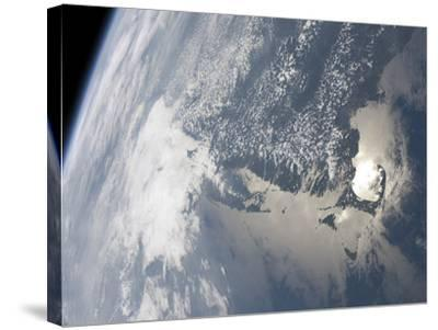 Sunglint On the Waters of Earth-Stocktrek Images-Stretched Canvas Print