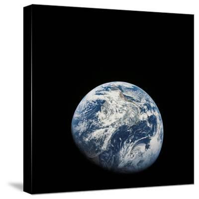 View of Earth Taken from the Aollo 8 Spacecraft-Stocktrek Images-Stretched Canvas Print