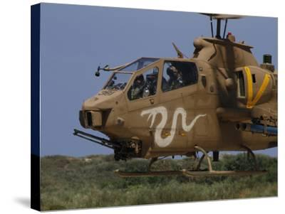 An AH-1S Tzefa Attack Helicopter of the Israeli Air Force-Stocktrek Images-Stretched Canvas Print