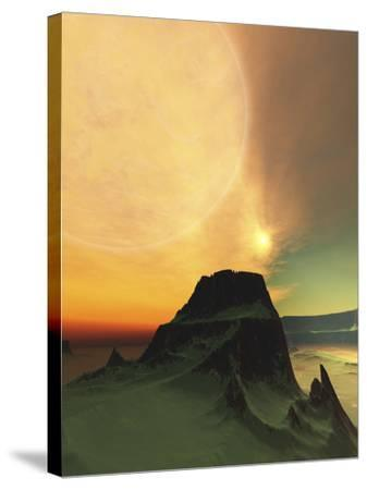 Cosmic Landscape On Another World-Stocktrek Images-Stretched Canvas Print