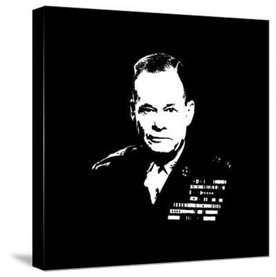 Vector Artwork of Lieutenant General Lewis Burwell Chesty Puller-Stocktrek Images-Stretched Canvas Print