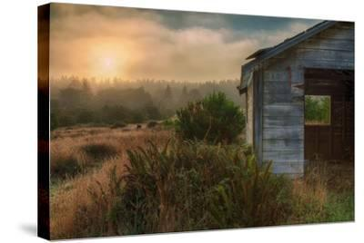 Morning Glow and Coastal Shack-Vincent James-Stretched Canvas Print