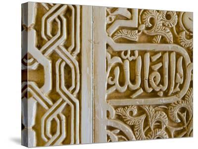 Spain, Andalucia, Granada Province, Granada, Spain, Alhambra Palace Complex (UNESCO Site)-Alan Copson-Stretched Canvas Print
