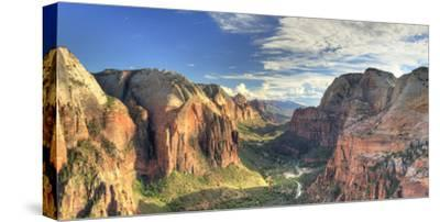 USA, Utah, Zion National Park, Zion Canyon from Angel's Landing-Michele Falzone-Stretched Canvas Print