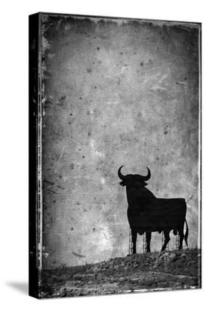 Spain, Andalucia, Jerez De la Frontera, El Cuadrejon, An Osborne Bull or Toro De Osborne-Alan Copson-Stretched Canvas Print