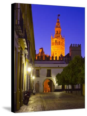 Spain, Andalucia, Seville Province, Cathedral of Seville, the Giralda Tower-Alan Copson-Stretched Canvas Print