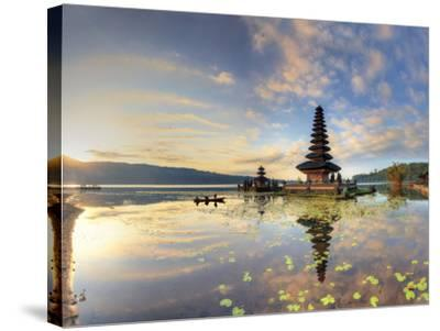 Indonesia, Bali, Bedugul, Pura Ulun Danau Bratan Temple on Lake Bratan-Michele Falzone-Stretched Canvas Print