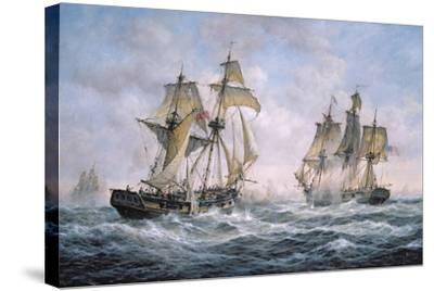 "Action Between U.S. Sloop-Of-War ""Wasp"" and H.M. Brig-Of-War ""Frolic"", 1812-Richard Willis-Stretched Canvas Print"