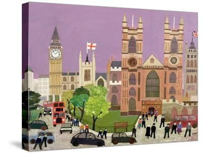 The Five Towers of Westminster-William Cooper-Stretched Canvas Print