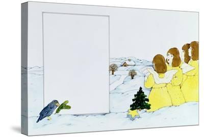 The Angel Carol Singers-Christian Kaempf-Stretched Canvas Print