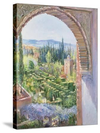 Alhambra Gardens-Timothy Easton-Stretched Canvas Print