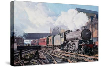 A 'Thompson' B1 Class Moving Empty Stock on a Cold February Morning, 1998-David Nolan-Stretched Canvas Print