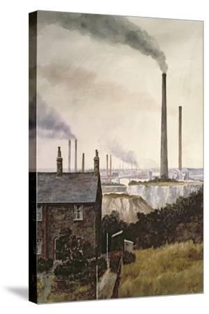 North Kent Landscape - Nr. Northfleet, Gravesend-Vic Trevett-Stretched Canvas Print