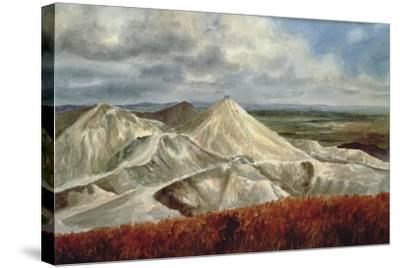 Cornish Landscape - China Clay Quarries at St. Austell-Vic Trevett-Stretched Canvas Print