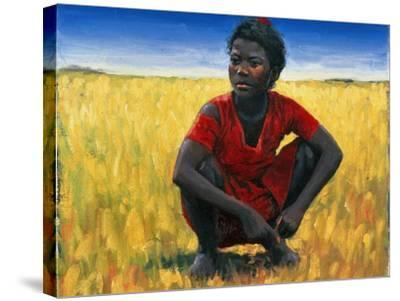 Girl in Red, 1992-Tilly Willis-Stretched Canvas Print
