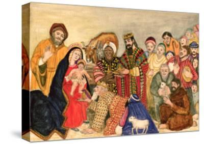 Nativity Scene-Gillian Lawson-Stretched Canvas Print