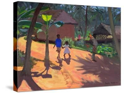 Road to Kovalum Beach, Kerala, 1996-Andrew Macara-Stretched Canvas Print