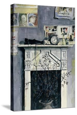Fireplace-John Lidzey-Stretched Canvas Print