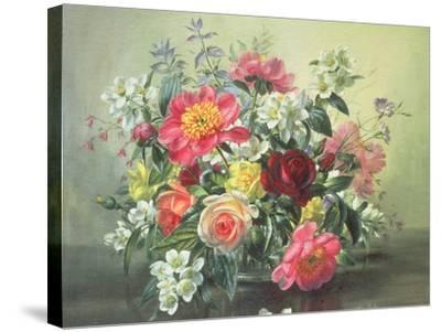 Flowers of Romantic June-Albert Williams-Stretched Canvas Print