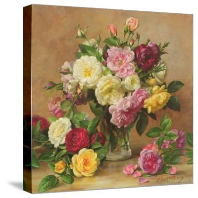 Old Fashioned Victorian Roses, 1995-Albert Williams-Stretched Canvas Print