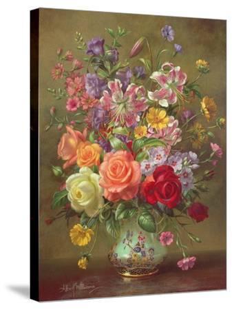 A Summer Floral Arrangement, 1996-Albert Williams-Stretched Canvas Print
