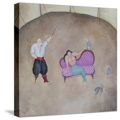 Mermaid and Pirate, 1980-Mary Stuart-Stretched Canvas Print