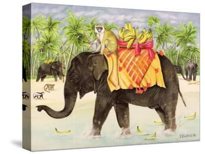 Elephants with Bananas, 1998-E.B. Watts-Stretched Canvas Print