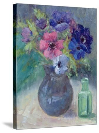 Anemones-Karen Armitage-Stretched Canvas Print
