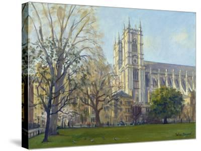 Westminster Abbey from Dean's Yard-Julian Barrow-Stretched Canvas Print