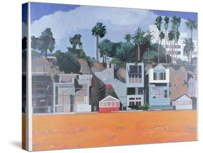 Houses under the Cliff, Santa Monica, USA, 2002-Peter Wilson-Stretched Canvas Print
